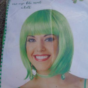 St. Patrick's party Wig  NWT